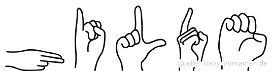 Hilde in Fingersprache für Gehörlose