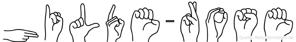 Hilde-Rose im Fingeralphabet der Deutschen Gebärdensprache