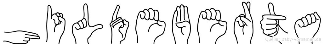 Hildeberta in Fingersprache für Gehörlose