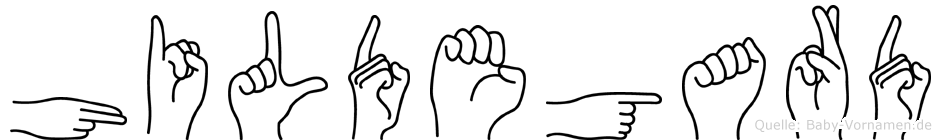 Hildegard in Fingersprache für Gehörlose
