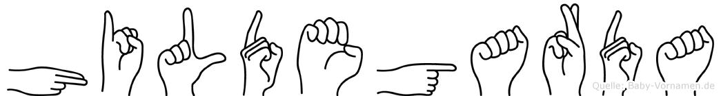 Hildegarda in Fingersprache für Gehörlose