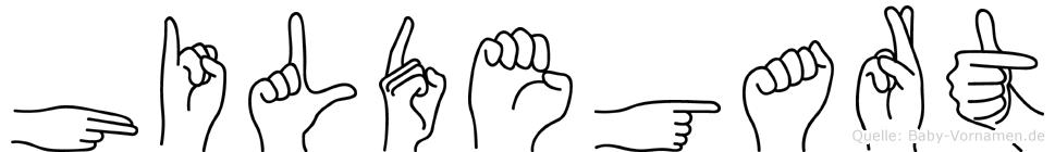 Hildegart in Fingersprache für Gehörlose