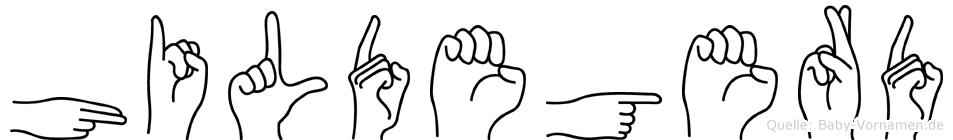 Hildegerd in Fingersprache für Gehörlose