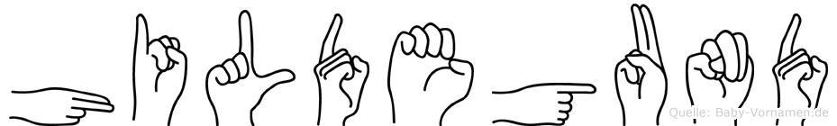 Hildegund in Fingersprache für Gehörlose