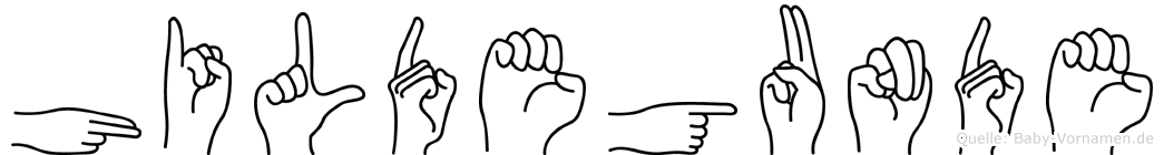 Hildegunde in Fingersprache für Gehörlose