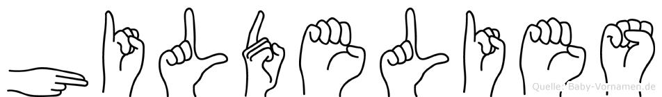 Hildelies im Fingeralphabet der Deutschen Gebärdensprache