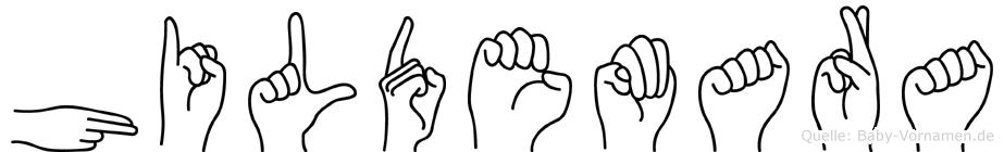 Hildemara in Fingersprache für Gehörlose