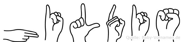Hildis in Fingersprache für Gehörlose