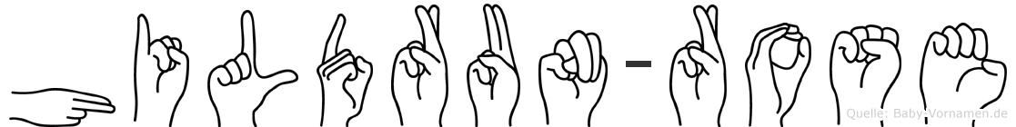 Hildrun-Rose im Fingeralphabet der Deutschen Gebärdensprache