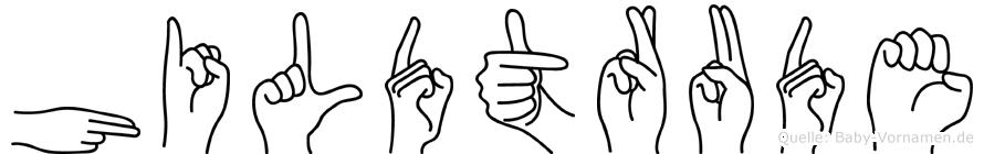 Hildtrude im Fingeralphabet der Deutschen Gebärdensprache