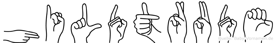 Hildtrude in Fingersprache f�r Geh�rlose