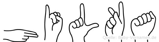 Hilka in Fingersprache für Gehörlose
