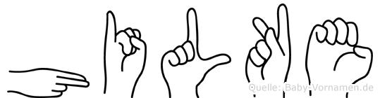 Hilke in Fingersprache für Gehörlose