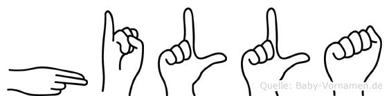Hilla in Fingersprache für Gehörlose