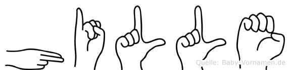 Hille im Fingeralphabet der Deutschen Gebärdensprache