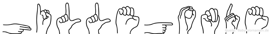 Hillegonde in Fingersprache für Gehörlose