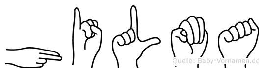 Hilma im Fingeralphabet der Deutschen Gebärdensprache