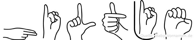 Hiltje im Fingeralphabet der Deutschen Gebärdensprache