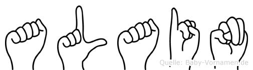 Alain in Fingersprache für Gehörlose
