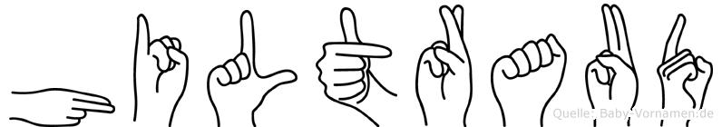 Hiltraud in Fingersprache für Gehörlose