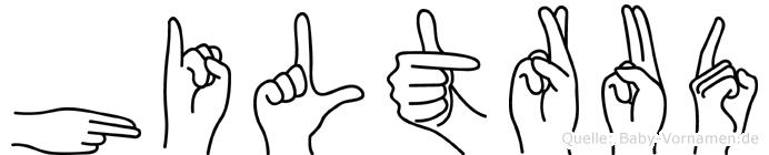 Hiltrud in Fingersprache für Gehörlose
