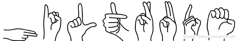 Hiltrude in Fingersprache für Gehörlose