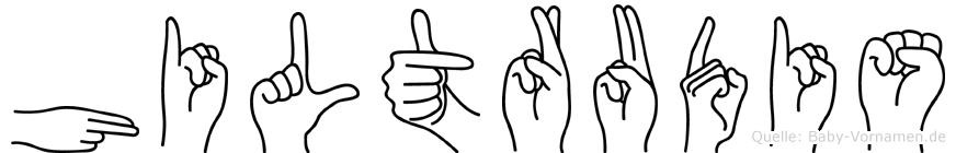 Hiltrudis in Fingersprache für Gehörlose