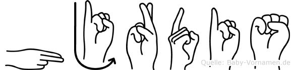 Hjördis in Fingersprache für Gehörlose