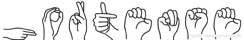 Hortense im Fingeralphabet der Deutschen Gebärdensprache