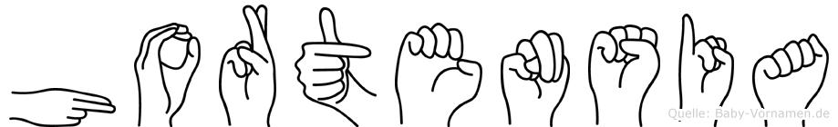 Hortensia im Fingeralphabet der Deutschen Gebärdensprache