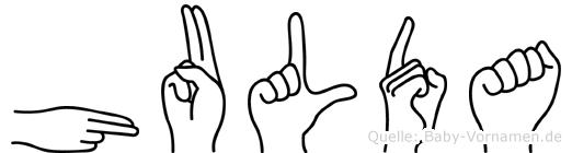 Hulda in Fingersprache für Gehörlose