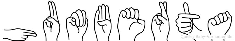 Humberta in Fingersprache für Gehörlose