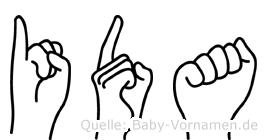 Ida in Fingersprache für Gehörlose