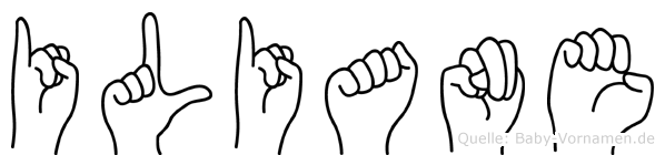 Iliane in Fingersprache für Gehörlose