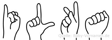 Ilka in Fingersprache für Gehörlose