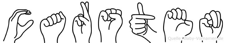 Carsten in Fingersprache für Gehörlose