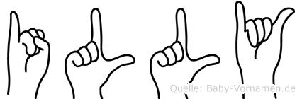 Illy in Fingersprache für Gehörlose
