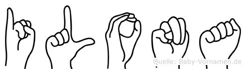 Ilona in Fingersprache für Gehörlose