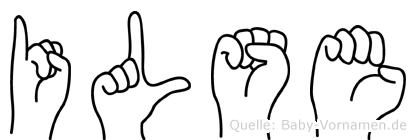 Ilse im Fingeralphabet der Deutschen Gebärdensprache