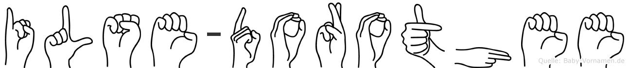 Ilse-Dorothee im Fingeralphabet der Deutschen Gebärdensprache