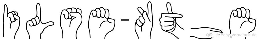 Ilse-Käthe im Fingeralphabet der Deutschen Gebärdensprache