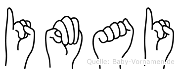 Imai im Fingeralphabet der Deutschen Gebärdensprache