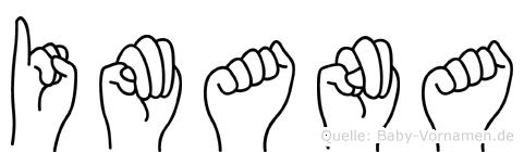 Imana im Fingeralphabet der Deutschen Gebärdensprache