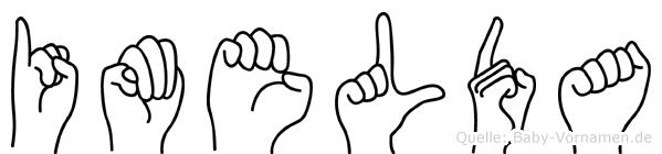 Imelda im Fingeralphabet der Deutschen Gebärdensprache