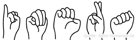 Imera im Fingeralphabet der Deutschen Gebärdensprache