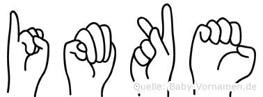 Imke im Fingeralphabet der Deutschen Gebärdensprache