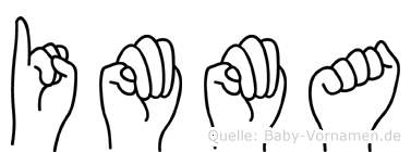 Imma im Fingeralphabet der Deutschen Gebärdensprache