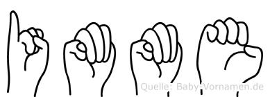 Imme in Fingersprache für Gehörlose