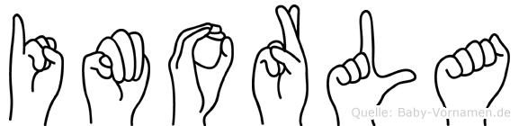 Imorla im Fingeralphabet der Deutschen Gebärdensprache