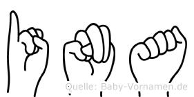 Ina im Fingeralphabet der Deutschen Gebärdensprache